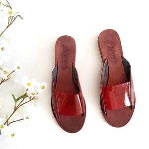 Free People | Leather Slide Sandals 39 9